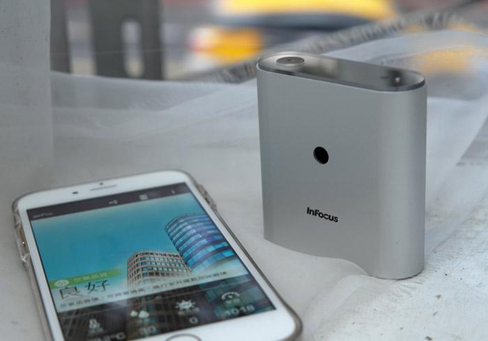 《InFocus airPro小清新》隨時掌握周遭環境的空氣品質、溼度與紫外線