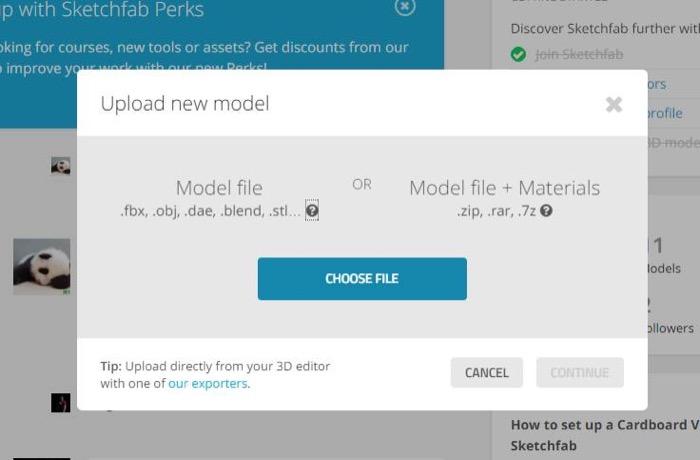 梅問題-Sketchfab讓你的3D作品能撥放&預覽並分享臉書