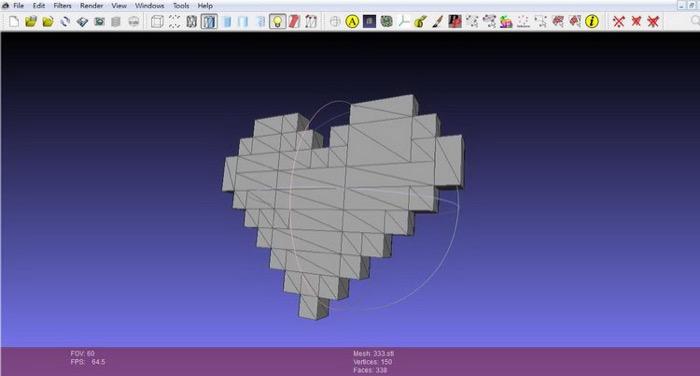 梅問題-Shaper免費3D立體像素PIXEL產生軟體