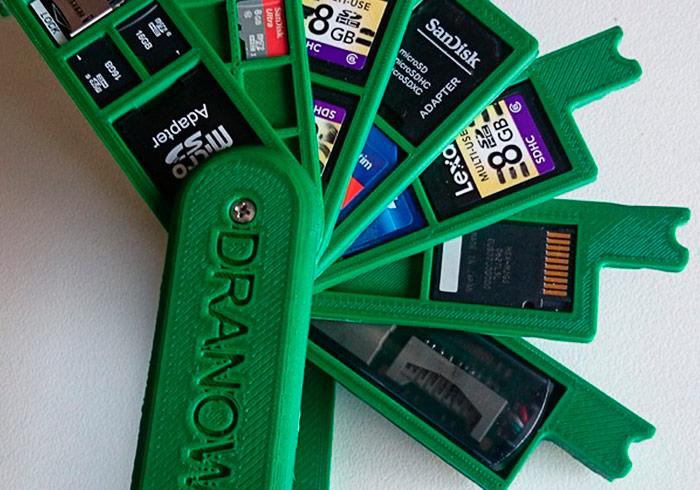 梅問題-3D列印打印「瑞士刀SD記憶卡」收納盒(附原始檔)