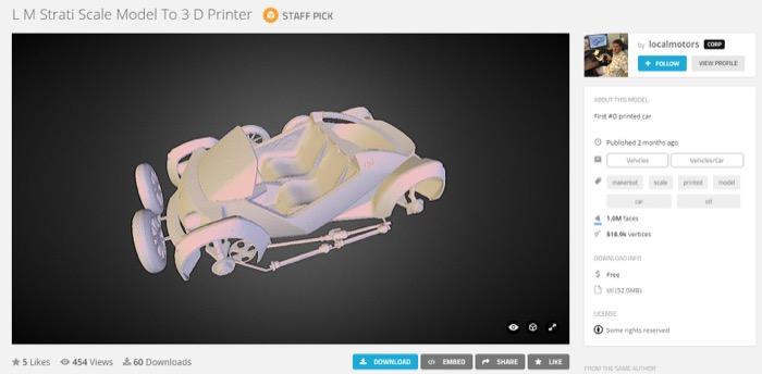 梅問題-《Strati》免費3D電動車模型下載