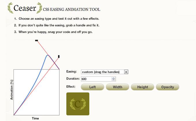 梅問題-《Ceaser》CSS3動畫產生器-即見即所得