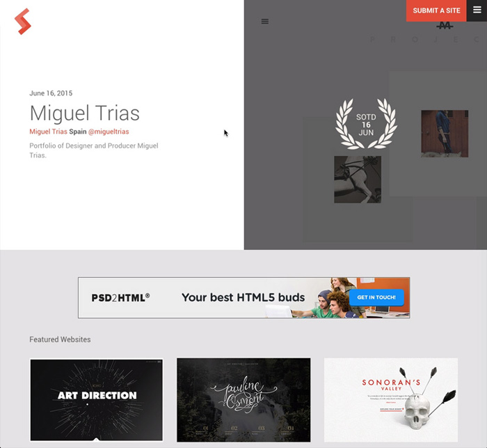 TOP 10 CSS Awards Website cssawds