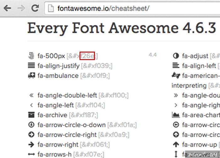 梅問題-ICON Fonts向量圖示字型引用到CSS中(Font Awesome為例)