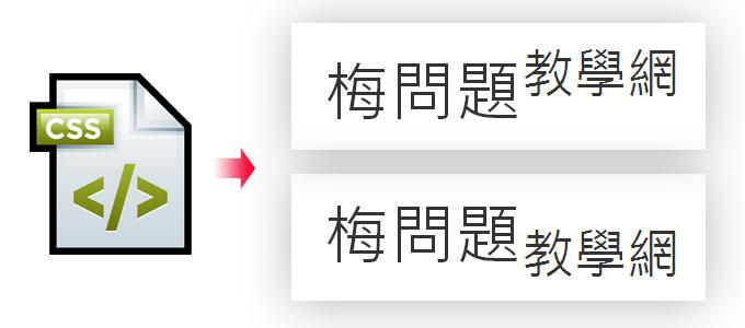 梅問題-CSS教學-利用CSS實現文字在網頁中顯示上下標文字