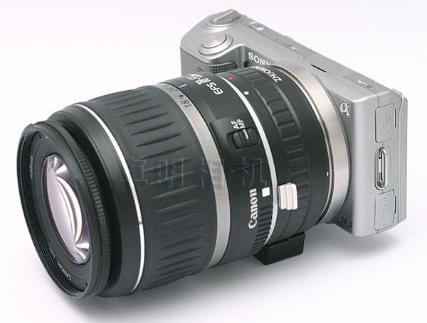 梅問題-週邊配件-EF-Nex轉接環讓NEX可用Canon鏡頭(可自動對焦、電子控制光圈)