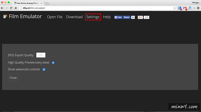 梅問題-《Film Emulator》打開瀏覽器立即就能將照片變成銀鹽風