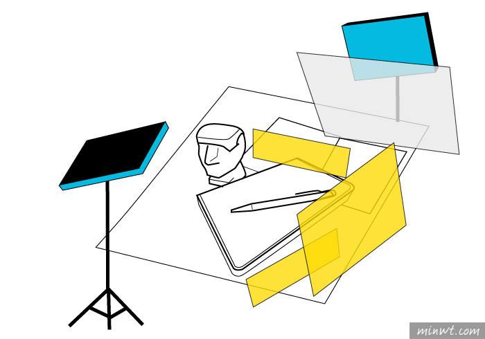 梅問題-「手機商品攝影-8」雙燈拍出小金人摩艾文具商品