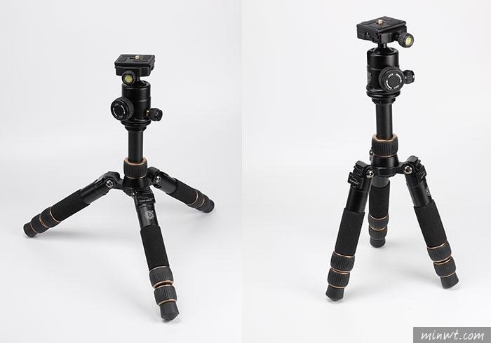 梅問題-輕時代QZSD-166A二件式迷你腳架,是自拍棒也是三腳架