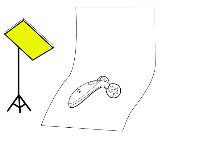 梅問題-商品攝影教學-二張描圖紙拍出REFAReFa CARAT 白金滾輪鑽石切面按摩器
