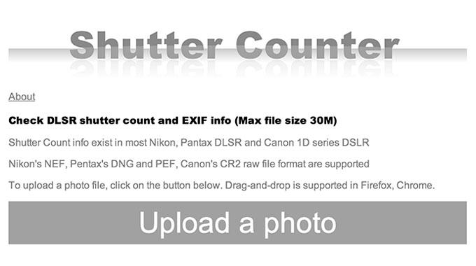 梅問題-Shutter Counter線上檢測相機的快門釋放次數