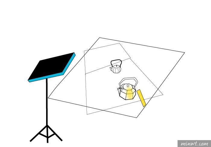 「手機商品攝影-7」單燈拍出文創鑄鐵壺紙鎮