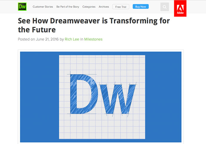 Adobe Dreamweaver CC 2017-beta測試版搶先用