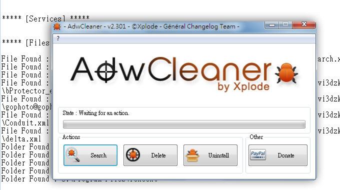 《AdwCleaner》徹底清除網頁被綁架、惡意工具列、不定時出現廣告