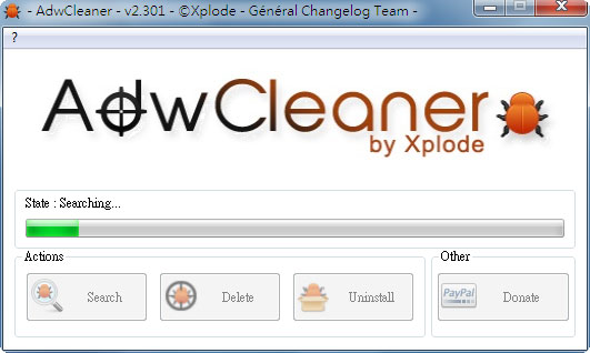 梅問題-電腦不求人-《AdwCleaner》徹底清除瀏覽器被綁架、惡意工作列、不定時出現廣告