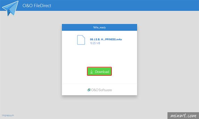 梅問題-O&O FileDirect免上傳,直接點對點傳送大檔給朋友