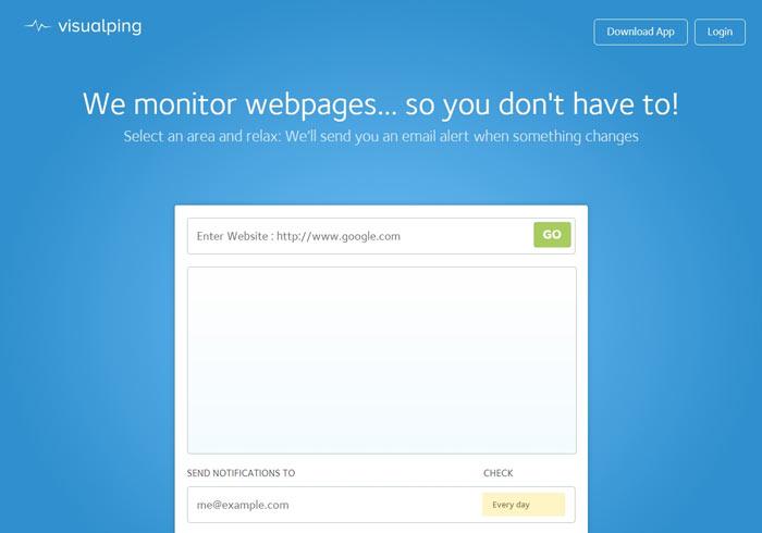 Visualping 網路搶購利器!網頁追蹤器,當有變化立馬通知