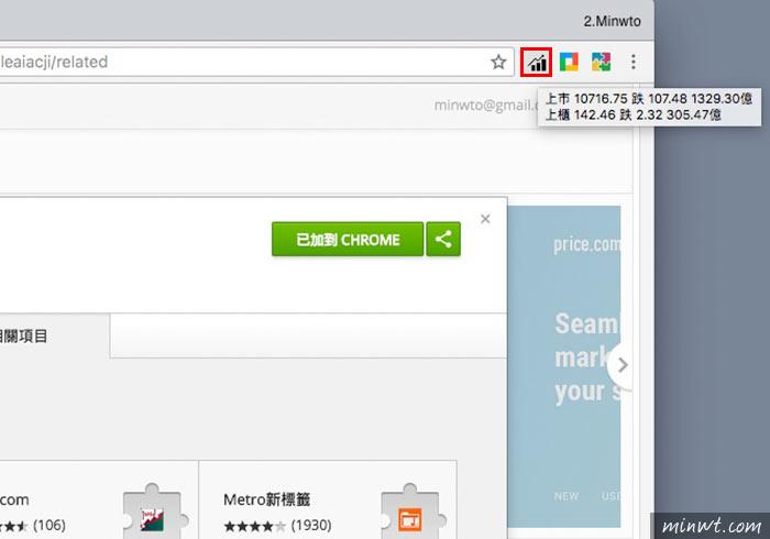 梅問題-[外掛]yStock開啟Chrome瀏覽器就能看盤