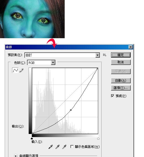 梅問題-photoshop教學-其假亂真-將照片變臉成阿凡達的納美人