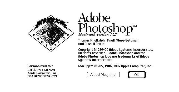 梅問題-Adobe官方公佈Photoshop原始碼