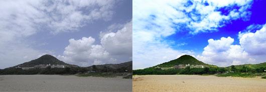 Photoshop教學-以假亂真-仿圖庫將陰天變成蔚藍天空