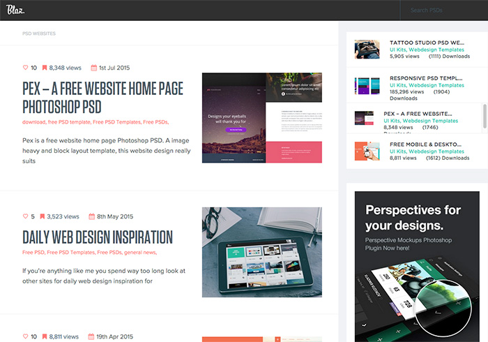 blazrobar:Free PSD Website Templates免費RWD自適應PSD模版下載
