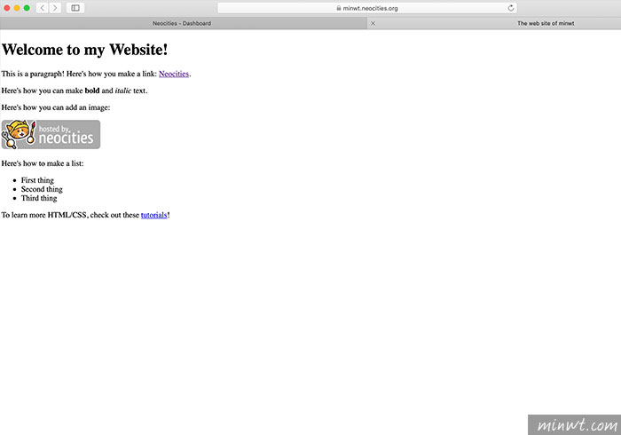 梅問題-Neocities 免費靜態HTML空間,內建線上檔案管理器拖拉間,快速打造自己的網站