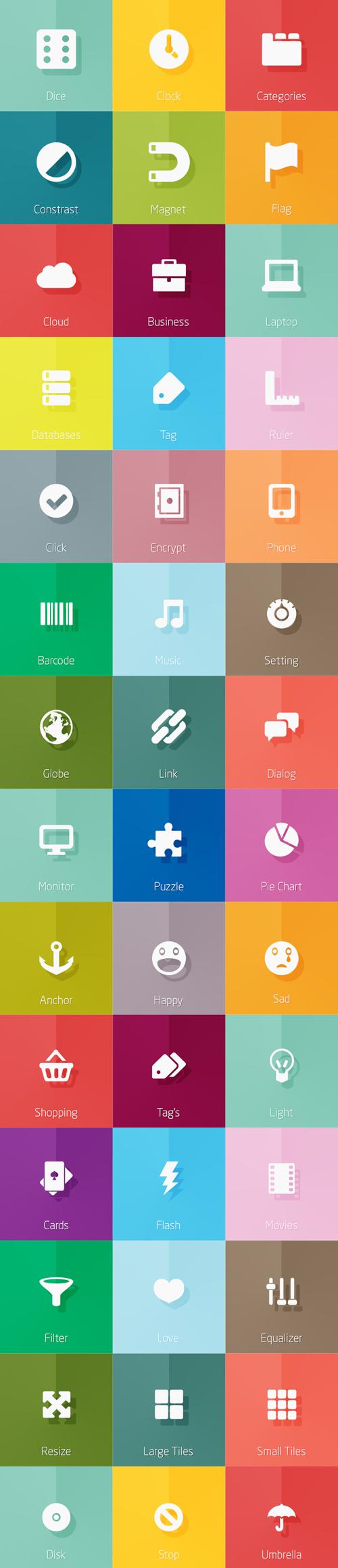 梅問題-網設必備-10款扁平式圖示特集,一次滿足所有UI所需