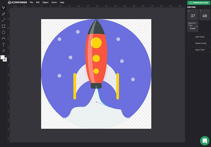 Iconfinder Icon Editor 免費線上SVG向量檔編輯器
