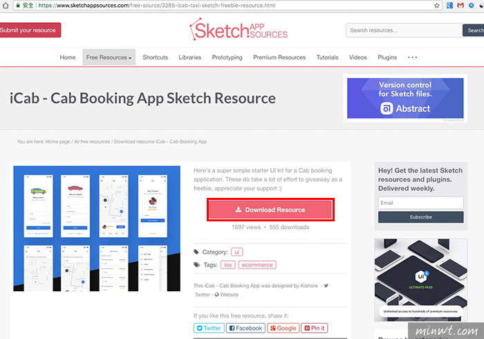 梅問題-Sketch App Sources 上千個各式UI設計免費下載