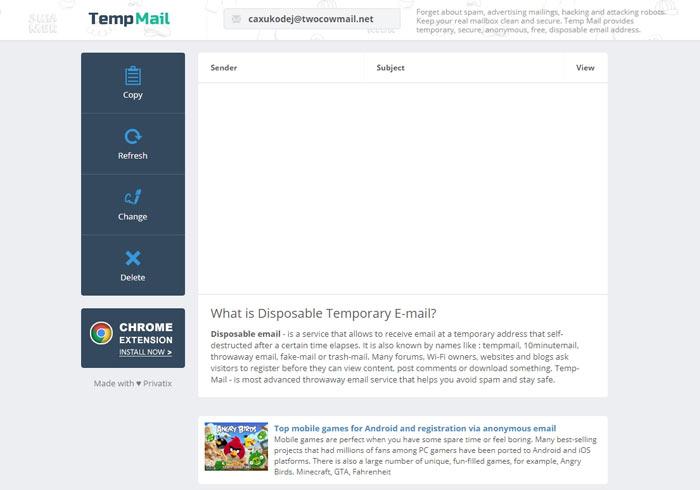 梅問題-Temp Mail 可自訂名稱與選擇網域的免費臨時信箱