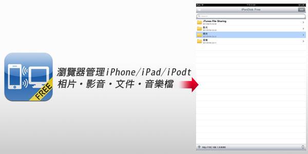 梅問題-iPad無料程式-iPanDisk用瀏覽器管理iOS相片、影音、文件檔
