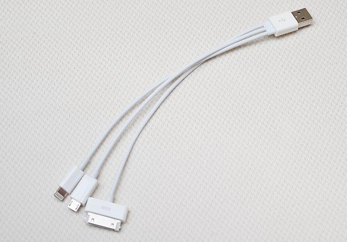 梅問題-iPhone週邊-USB三合一傳輸線可同時充電(Lightning/iPhone 3Gs/Micro)