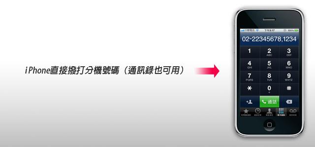 梅問題-iPhone火速上手17-直接撥打分機號碼