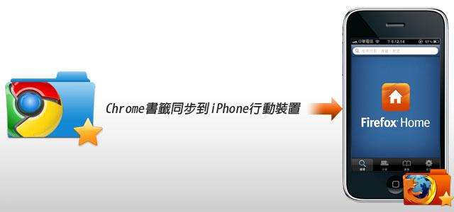 梅問題-iPhone教學-將Chrome書籤同步到iPhone等行動裝置中