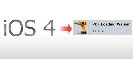 iphoneJB教學-PDFLoadingWarmer修補iOS4安全性的PDF漏洞