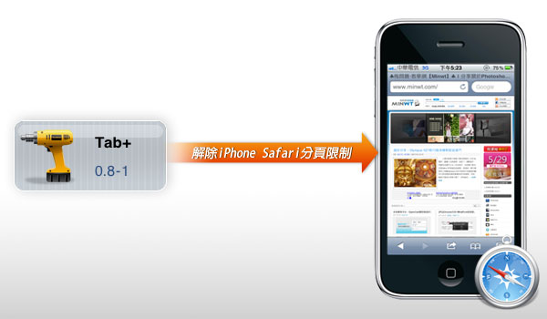 【iPhone JB應用】Tab+解除iPhone Safari分頁限制