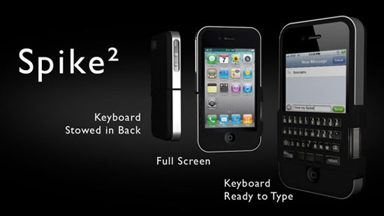 梅問題-iPhone週邊配件-「Spike」讓iPhone擁有實體鍵盤保護殼