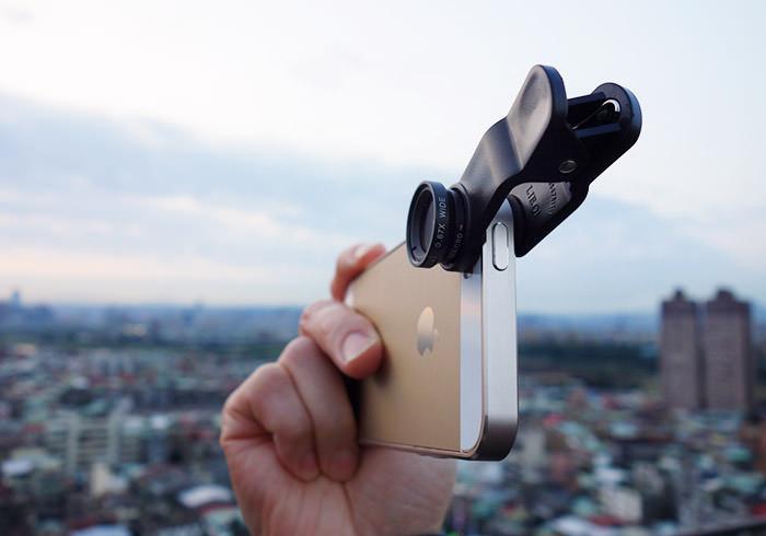 梅問題-四合一萬用手機平板鏡頭夾(鏡頭魚眼+廣角+微距+偏光)