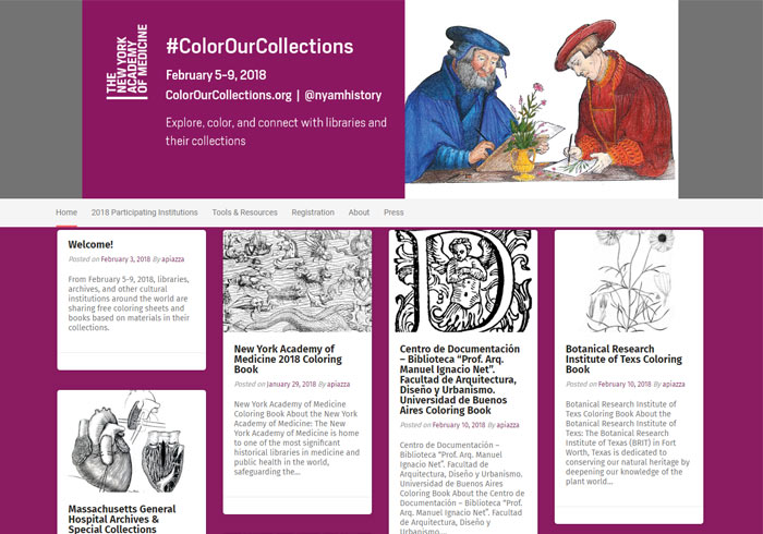 #Color Our Collections 世界各地圖書館寶貴著色畫PDF檔免費下載