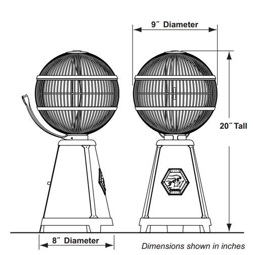 梅問題-生活小品-360度都好吹Fargo復古球形電風扇