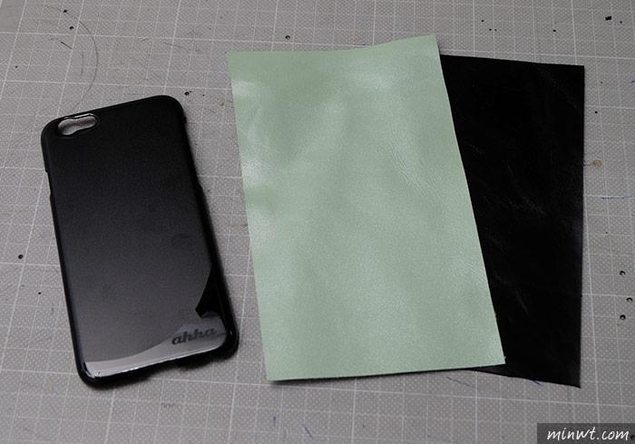 梅問題-自製雙色手縫iPhone6手工真皮保謢殼