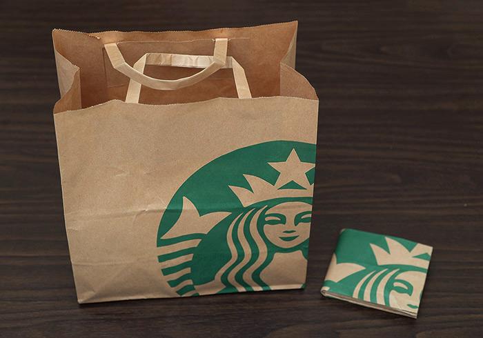 《星巴克早餐提袋別丟!!》自製全球首款星巴克紙皮夾