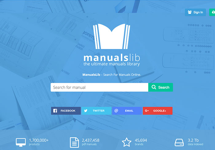 ManualsLib擁有45,000種品牌,3C產品說明書免費下載