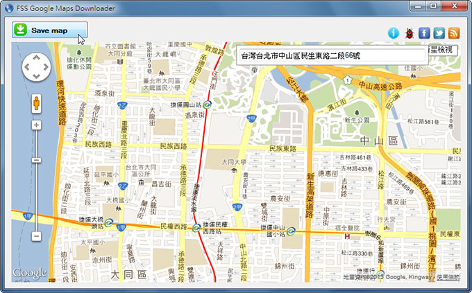 梅問題-《FSS Google Maps Downloader》將Google地圖儲存成JPG檔