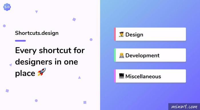 梅問題-Shortcuts.design 設計師常用軟體快速鍵速查表
