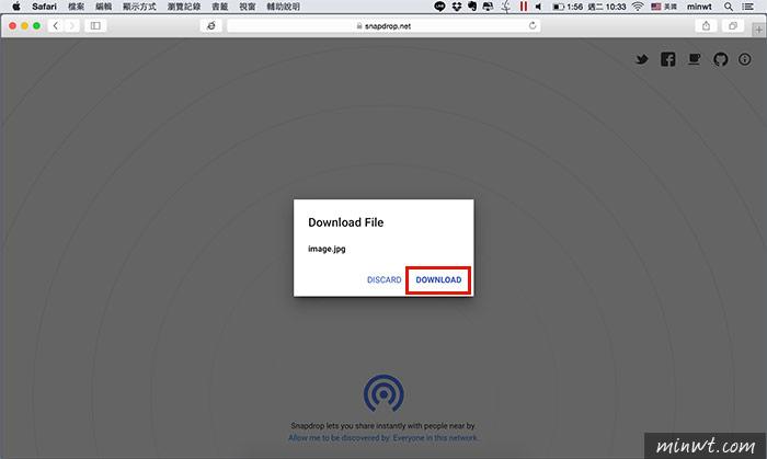 梅問題-Snapdrop打開瀏覽器不限平台都能隔空相互傳檔