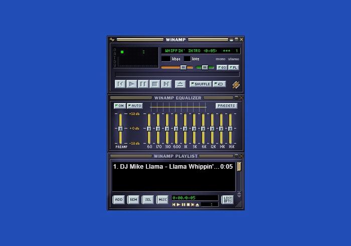 WinAmp免安裝!老牌的MP3播放器,雖然老但卻很好用