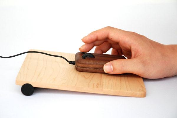 梅問題-3C小品-原木鍵盤滑鼠才夠酷