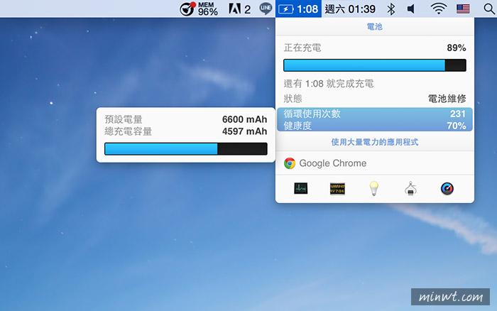 梅問題—MAC《iStat Menus系統監控軟體》將所有資訊顯示在狀態列中